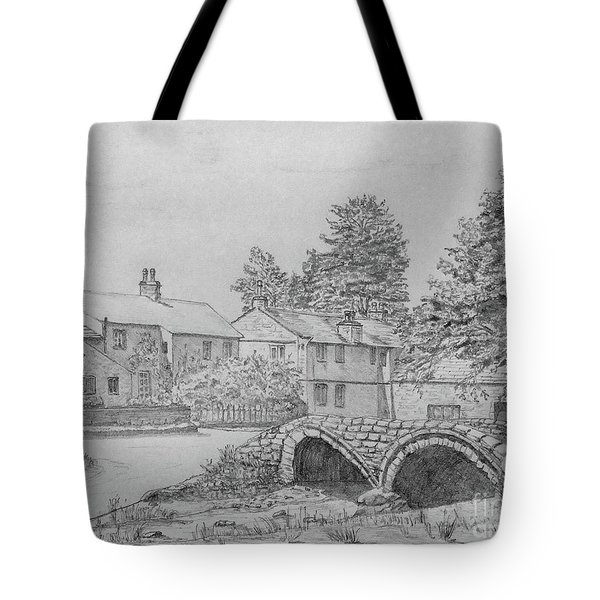 Old Packhorse Bridge Wycoller Tote Bag by Anthony Lyon