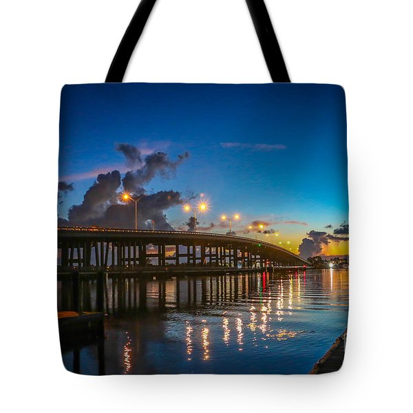 Old Palm City Bridge Tote Bag