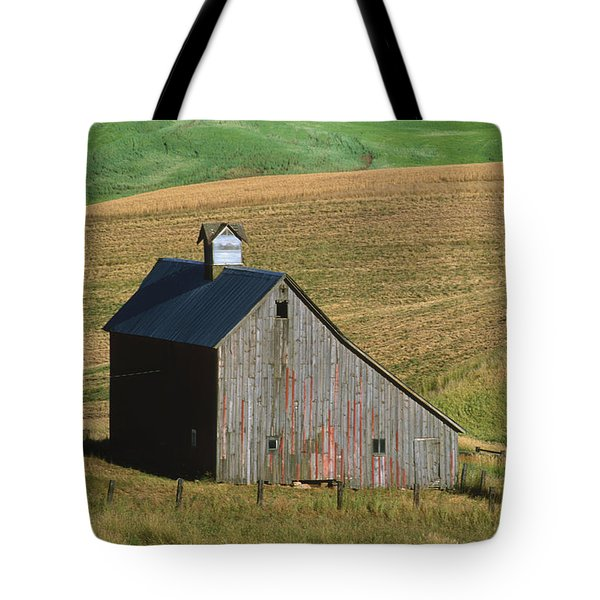 Old Palouse Barn Tote Bag by Sandra Bronstein