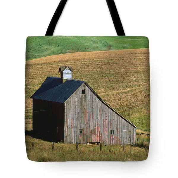 Old Palouse Barn Tote Bag by Sandra Bronstein