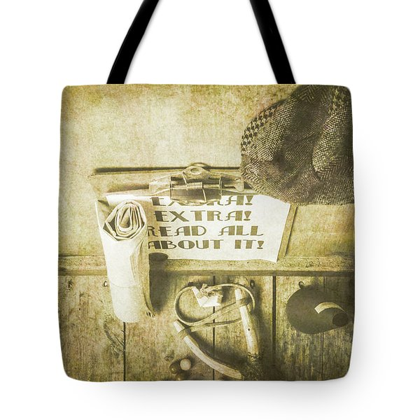 Old Paper Boy News Stand Tote Bag