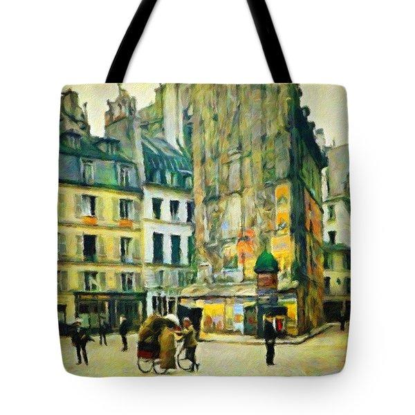 Old Paris Tote Bag by Vincent Monozlay