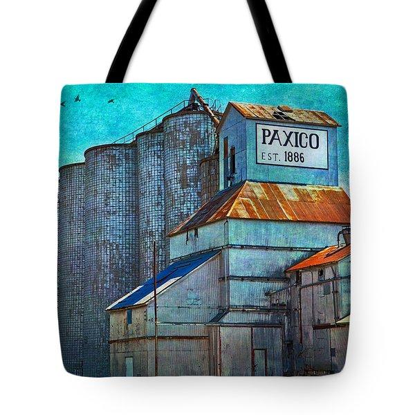 Old Paxico Kansas Grain Elevator Tote Bag