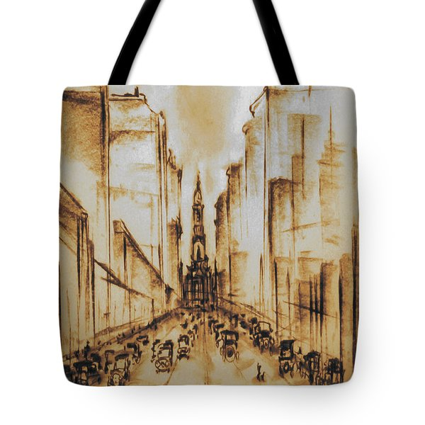 Old Philadelphia City Hall 1920 Tote Bag
