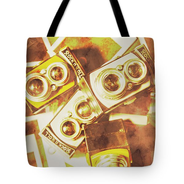 Old Photo Cameras Tote Bag