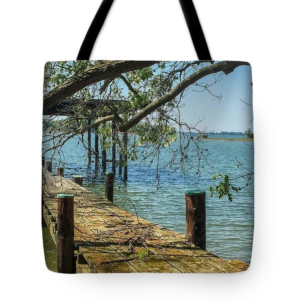 Old Pier On The Tred Avon Tote Bag