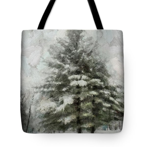 Tote Bag featuring the mixed media Old Piney by Trish Tritz