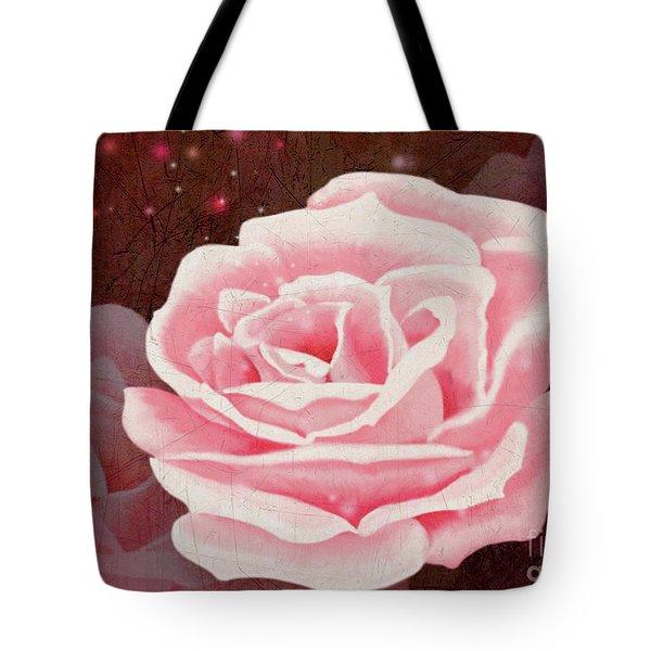 Old Pink Rose Tote Bag