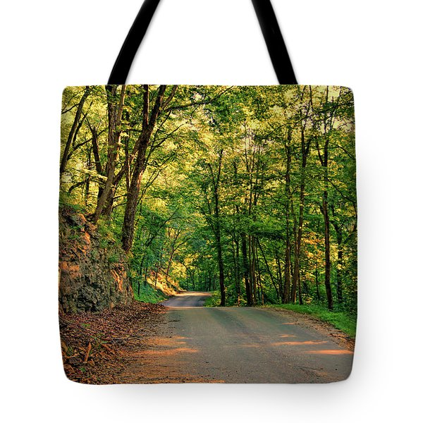 Tote Bag featuring the photograph Old Plank Road by Cricket Hackmann