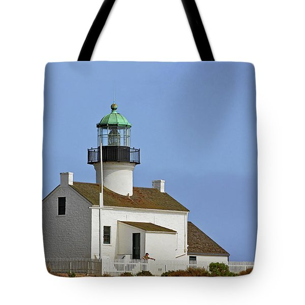 Old Point Loma Lighthouse San Diego California Tote Bag by Christine Till