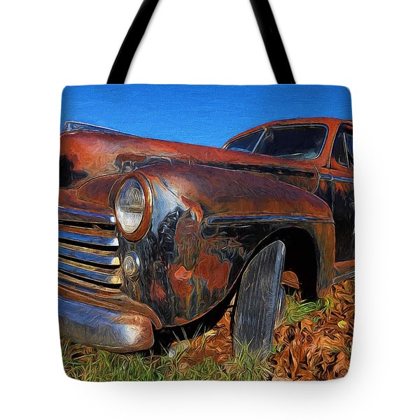 Old Police Car Tote Bag