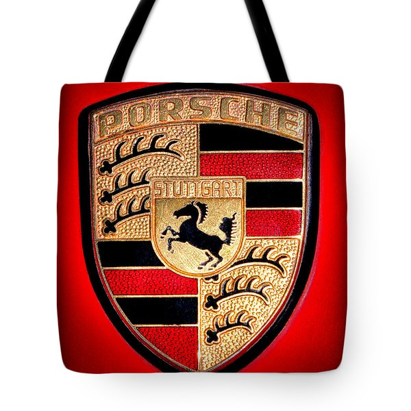 Old Porsche Badge Tote Bag