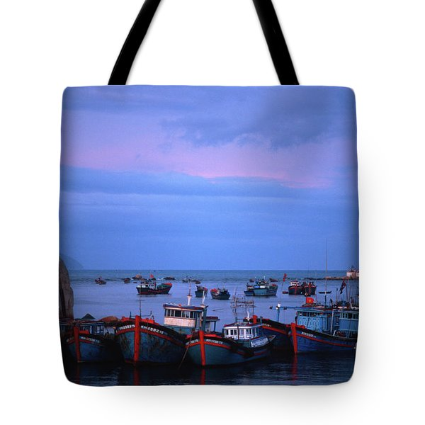 Tote Bag featuring the photograph Old Port Of Nha Trang In Vietnam by Silva Wischeropp