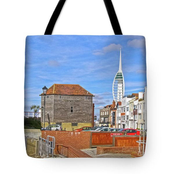 Old Portsmouth Flood Gates Tote Bag by Terri Waters