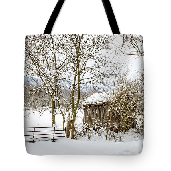 Old Post Office In Snow Tote Bag