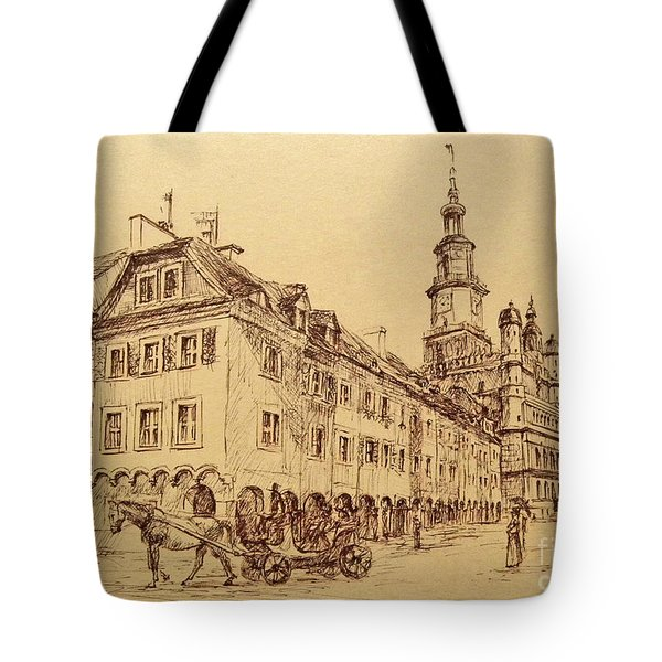 Old Poznan Drawing Tote Bag