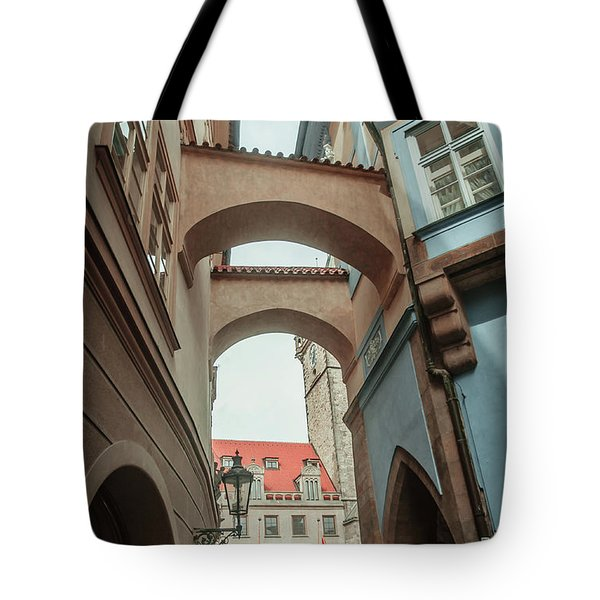 Tote Bag featuring the photograph Old Prague Architecture 1 by Jenny Rainbow