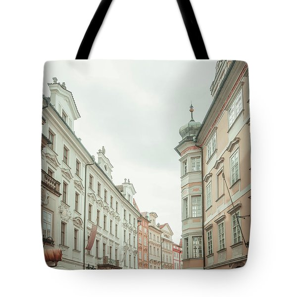 Tote Bag featuring the photograph Old Prague Buildings. Staromestska Square by Jenny Rainbow
