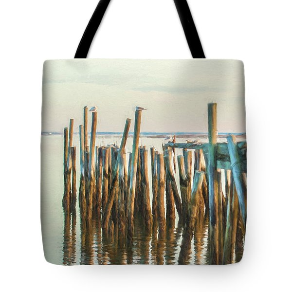 Old Provincetown Wharf Tote Bag