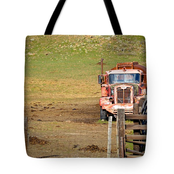 Old Pump Truck Tote Bag