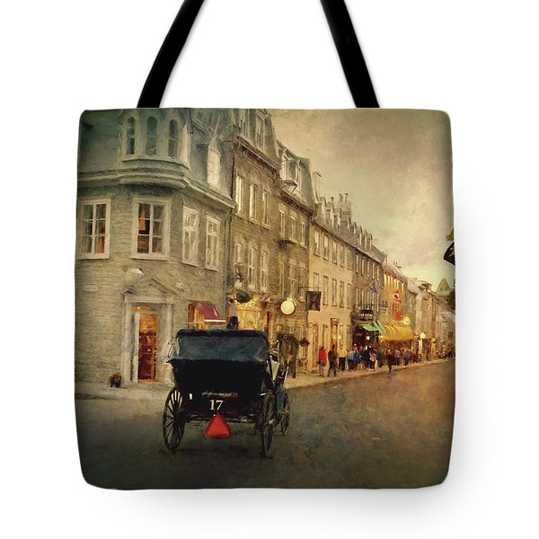 Old Quebec Tote Bag