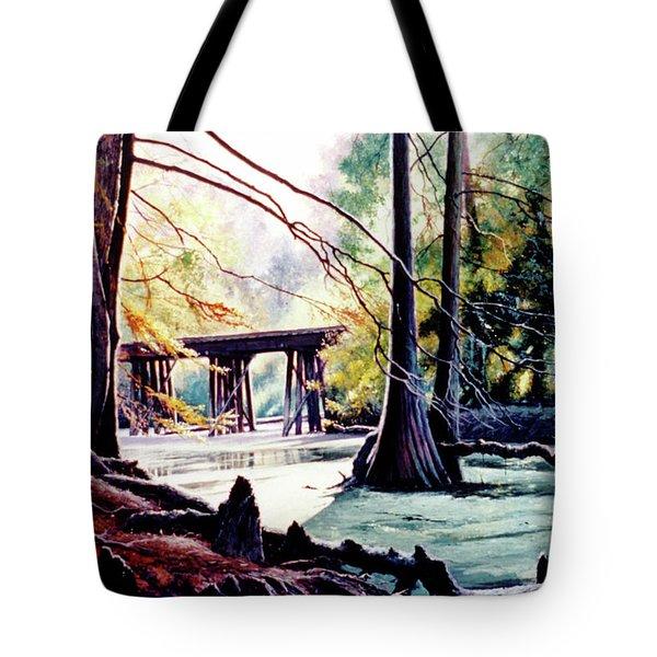Old Railroad Bridge Tote Bag