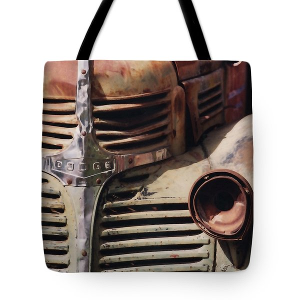 Old Ranch Truck Tote Bag by Art Block Collections