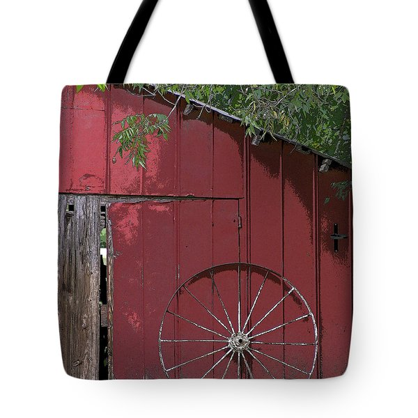 Old Red Barn Tote Bag