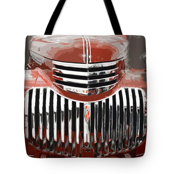 Old Red Chev Tote Bag by Ellery Russell
