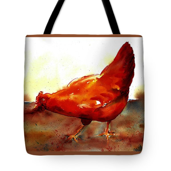 Picking With The Chickens Tote Bag