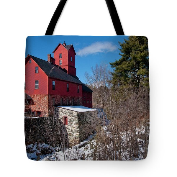 Tote Bag featuring the photograph Old Red Mill - Jericho, Vt. by Joann Vitali