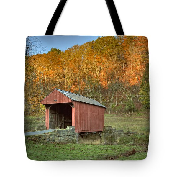 Old Red Or Walkersville Covered Bridge Tote Bag