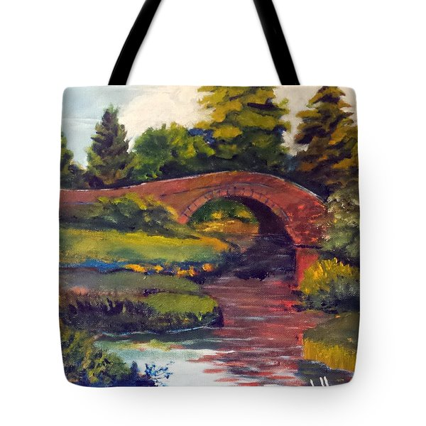 Old Red Stone Bridge Tote Bag