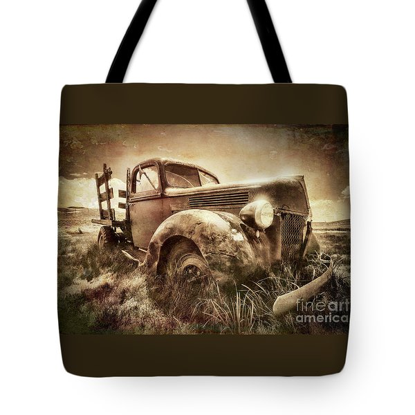 Tote Bag featuring the photograph Old Relic by Sharon Seaward