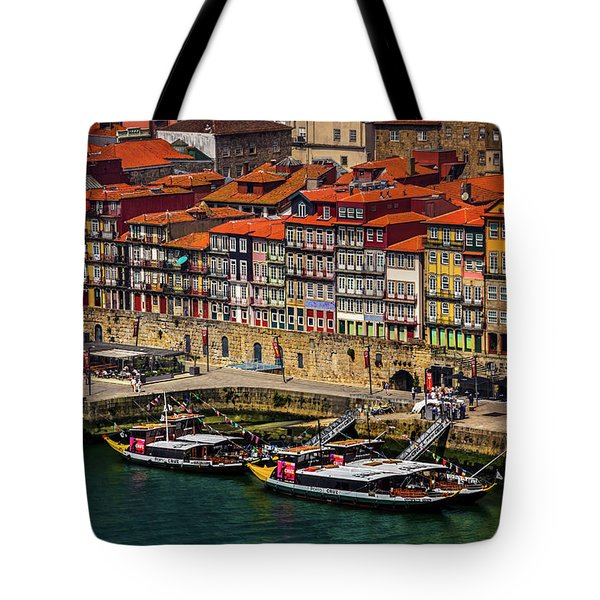 Tote Bag featuring the photograph Old Ribeira Porto  by Carol Japp