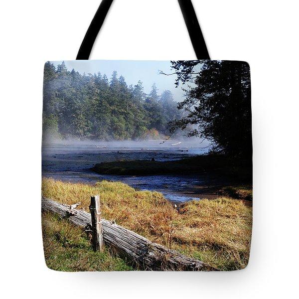 Old River Scene Tote Bag