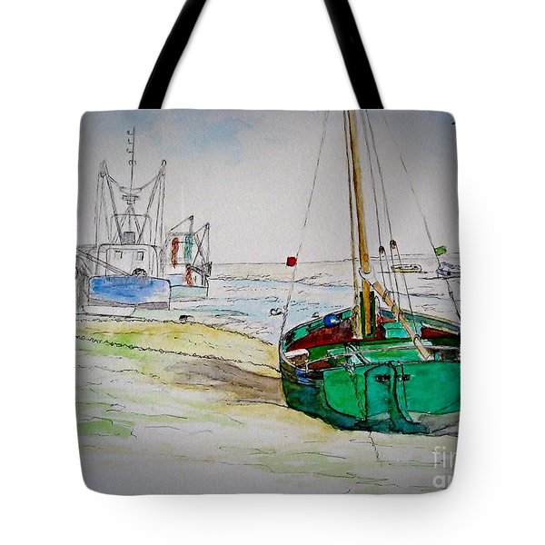 Old River Thames Fishing Boat Tote Bag