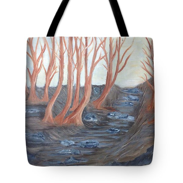 Old Road Through The Trees Tote Bag