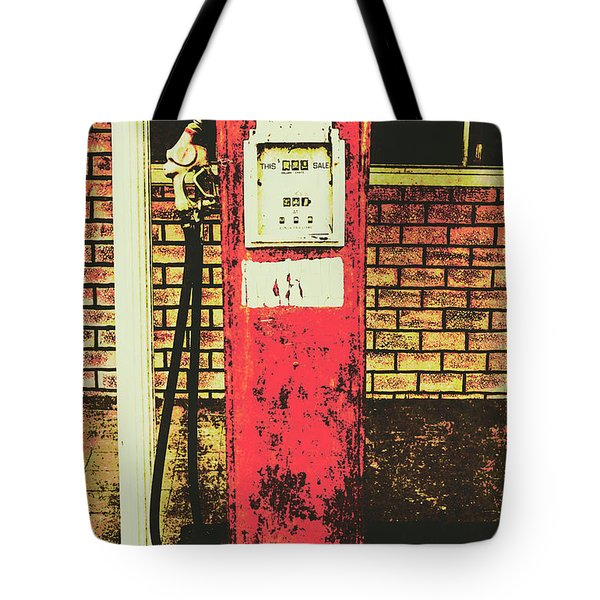 Old Roadhouse Gas Station Tote Bag