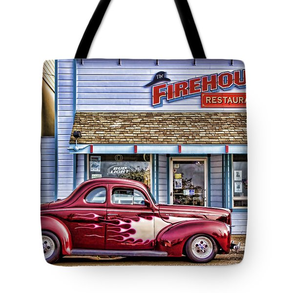 Old Roadster - Red Tote Bag