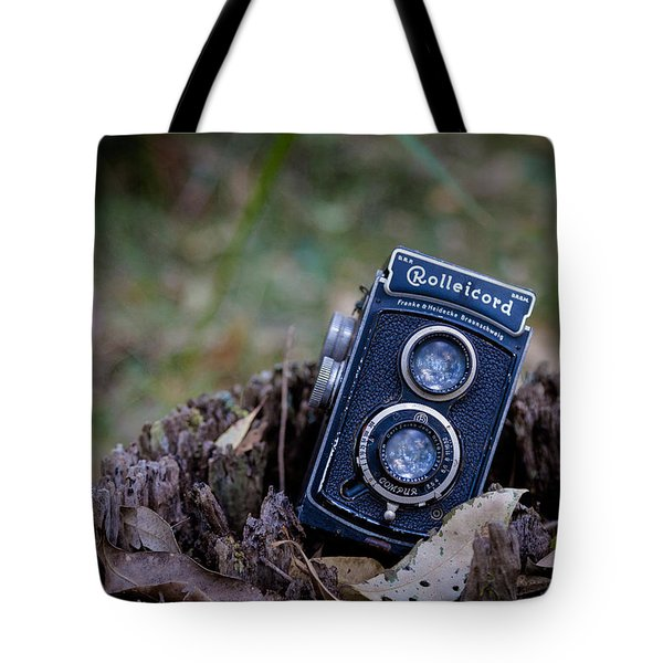 Tote Bag featuring the photograph Old Rollei by Keith Hawley