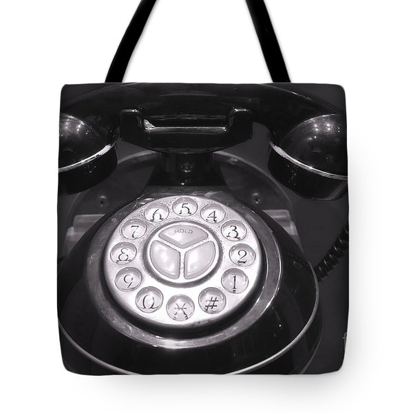 Old Rotary Dial Telephone Tote Bag by Yali Shi