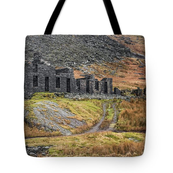 Tote Bag featuring the photograph Old Ruin At Cwmorthin by Adrian Evans