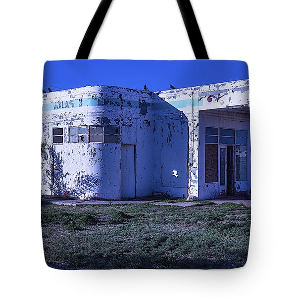 Old Run Down Gas Station Tote Bag