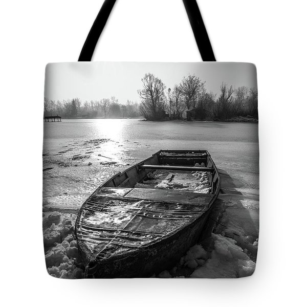 Tote Bag featuring the photograph Old Rusty Boat by Davorin Mance