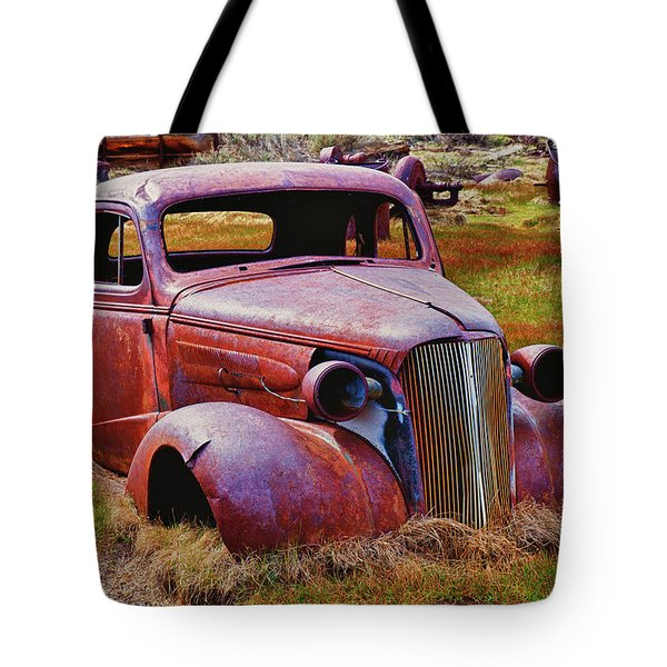 Old Rusty Car Bodie Ghost Town Tote Bag