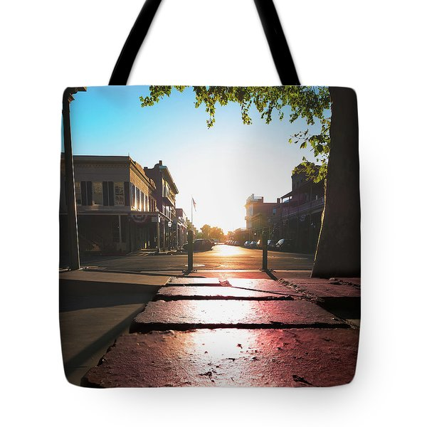 Tote Bag featuring the photograph Old Sacramento Smiles- by JD Mims