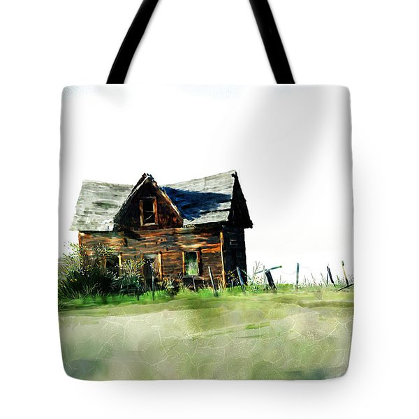 Old Sagging House Tote Bag by Debra Baldwin