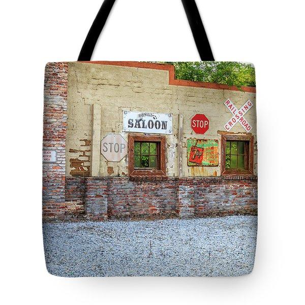 Old Saloon Wall Tote Bag