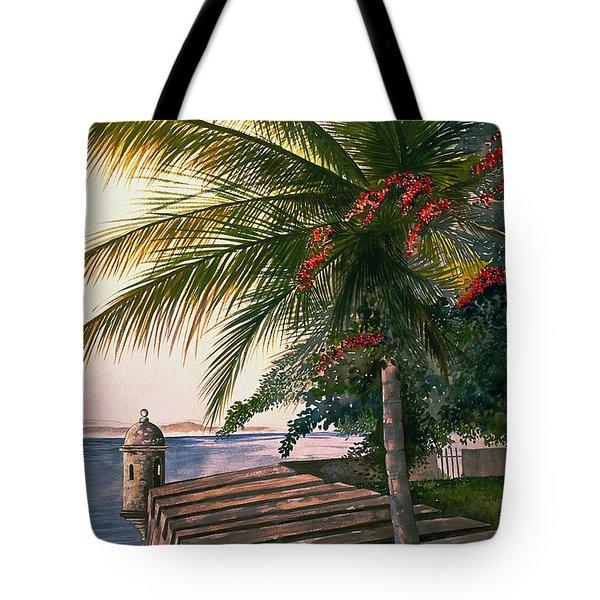 Old San Juan  Tote Bag by George Bloise